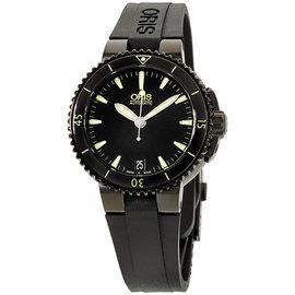 Oris Aquis 73376524722RS Date Black Dial Silicone Strap 36mm Unisex Watch