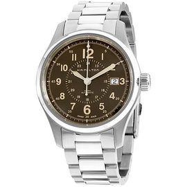 Hamilton Khaki Field H70305193 Brown Dial Stainless Steel 40mm Mens Watch
