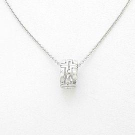 BVLGARI 18k White Gold Parentesi Necklace