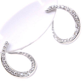 18k white gold/Platinum/diamond Earring