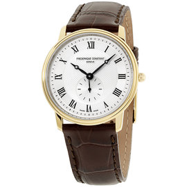 Frederique Constant Slimline FC235M4S5 Gold Tone Stainless Steel 37mm Mens Watch