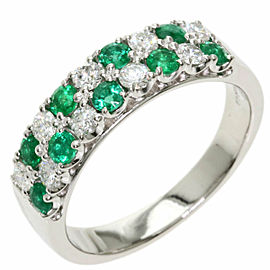 TASAKI PT950 Platinum Emerald Diamond Ring TNN-2029