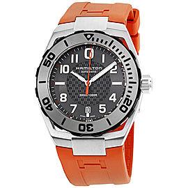 Hamilton Khaki Navy H78615985 Black Dial Silicone Strap 42mm Mens Watch