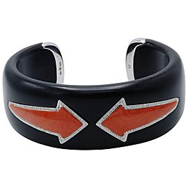 Enigma, Onyx, Diamond and Coral Arrow, Cuff Bangle