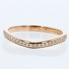 CARTIER 18k pink gold/diamond Ballerina Wedding Half Eternity Ring