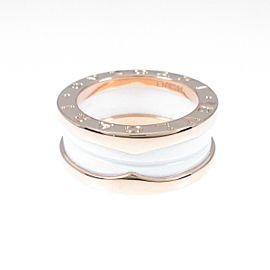 BVLGARI 18K Pink Gold/ceramic B.zero1 2 band ring