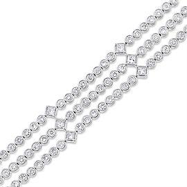 18K White Gold 7.84 Ct. Diamonds Tri Bracelet
