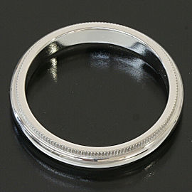 Tiffany & Co. 950 Platinum Milgrain Wedding 3.1mm Band Ring US 6