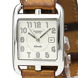 HERMES CC1.710 Cape Cod Stainless steel Leather Double Tour Automatic Watch