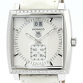 TAG HEUER Monaco Lady Diamond MOP Dial Quartz Watch WAW1313