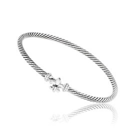 David Yurman 925 Sterling Silver Diamond Bracelet