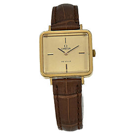 OMEGA Deville Gold Plated/Leather Cal.625 Hand-winding Women's Watch