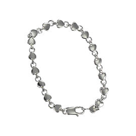 Tiffany & Co. Sterling Silver Hearts Link Bracelet