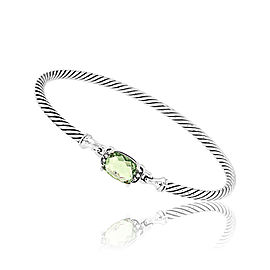 David Yurman Petite Wheaton Sterling Silver with Prasiolite and 0.06ct Diamonds Bracelet