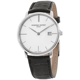 Frederique Constant Slimline FC220S5S6 Silver Tone Stainless Steel & Silver Dial 38.4mm Mens Watch