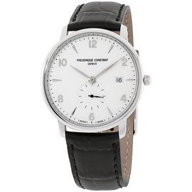 Frederique Constant Slimline FC245SA5S6 Silver Tone Stainless Steel & Silver Dial 38mm Mens Watch
