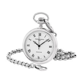 Frederique Constant FC-700MC6PW6 Stainless Steel Silver Dial Pocket 45mm Unisex Watch