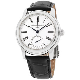 Frederique Constant FC710MS4H6 Classic Stainless Steel Silver Dial 42mm Mens Watch