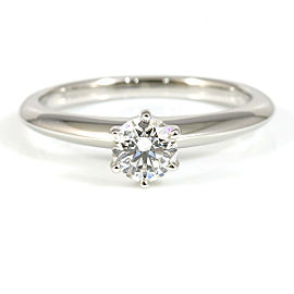 Tiffany & Co. Platinum, Diamond Solitaire Ring CHAT-179