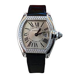 Cartier Roadster WE500260 White Gold & Diamond Bezel Quartz 36mm Womens Watch