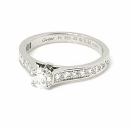 Cartier Platinum Diamond Ring RCB-114