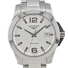 LONGINES Conquest L3.378.4 Silver Dial Date Quartz Men's Watch