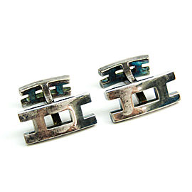 Hermes Silver Fixed Backing Cufflinks