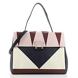Valentino Colorblock Mime Top Handle Bag Leather Large