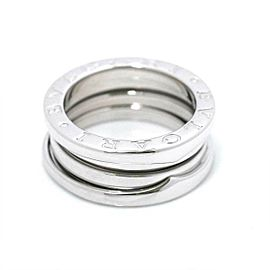 BVLGARI 18K White Gold B-ZERO 1 3 BAND Ring