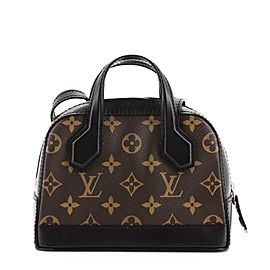 Louis Vuitton Dora Handbag Monogram Canvas and Calfskin Nano