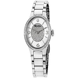 Bulova 96R193 Stainless Steel with Diamond Quartz 25mm Womens Watch