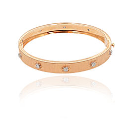 Buccellati 18K Rose Gold & Diamonds Bangle Bracelet