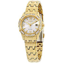 Citizen EW236255A Gold Tone Stainless Steel with Diamond Silver Dial 26mm Womens Watch