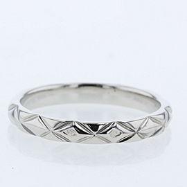 CHANEL 950 platinum/ diamond Matelasse Ring