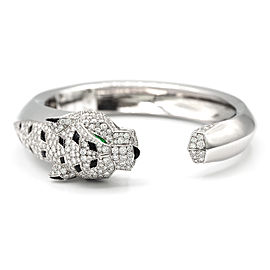 Cartier Panthère de Cartier Bracelet 18K White Gold with 4.0ct Diamonds, Onyx and Emerald