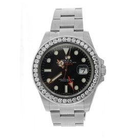Rolex Oyster Perpetual Explorer II with Diamond Bezel