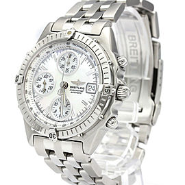 BREITLING Chronomat MOP Dial Steel Automatic Mens Watch A13350