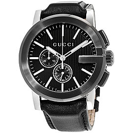 Gucci G-Chrono YA101205 Stainless Steel & Leather Quartz 47mm Mens Watch