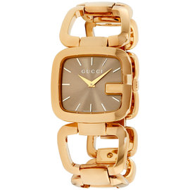 Gucci G-Gucci YA125408 Gold Plated Stainless Steel Quartz 30mm Womens Watch