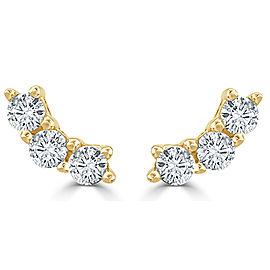 14K Yellow Gold Diamond 0.30ctw Earrings