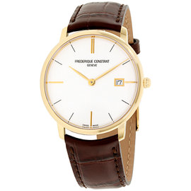 Frederique Constant Slimline FC220V5S5 Gold Tone Stainless Steel 38.4mm Mens Watch