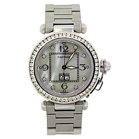 Cartier Pasha Stainless Steel & Diamond Bezel Unisex Watch