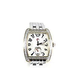 Michele Stainless Steel Two Tone .65tcw Mini Urban Diamond Watch + Extra Michele Two Tone Watch Band