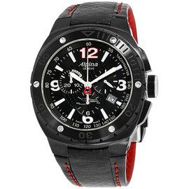 Alpina Racing AL352LBR5FBAR6 Black Dial Leather Strap 47mm Mens Watch