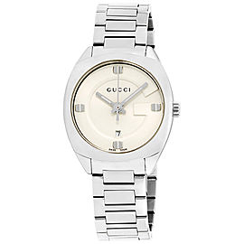 Gucci GG2570 White Dial Stainless Steel 29mm Womens Watch