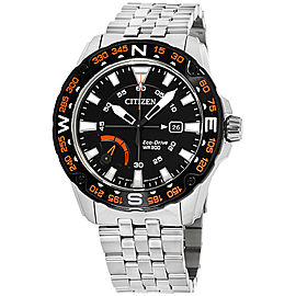 Citizen AW7048-51E Stainless Steel with Black Dial 44mm Mens Watch