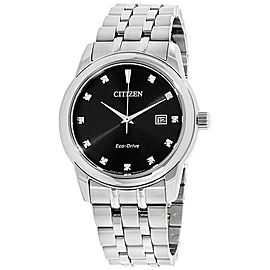 Citizen BM7340-55E Stainless Steel with Black Dial & Diamond 39mm Mens Watch