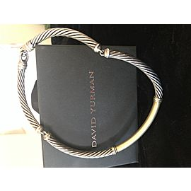 David Yurman Cable Collar Sterling Silver/14K Gold Necklace