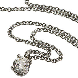 Tiffany & Co. 950 Platinum 0.27ct Solitaire Diamond Pendant Necklace
