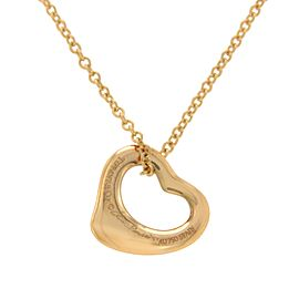 Tiffany & Co. Peretti 18K Rose Gold Open Heart Necklace